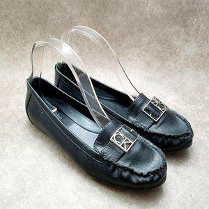 Calvin Klein Womens Kami  Sz 7.5 M Black  Leather